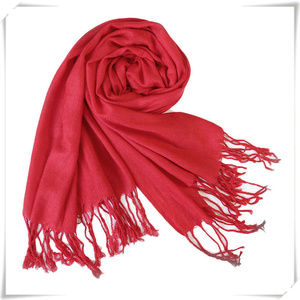 Pashmina scarf shawl in red NWOT